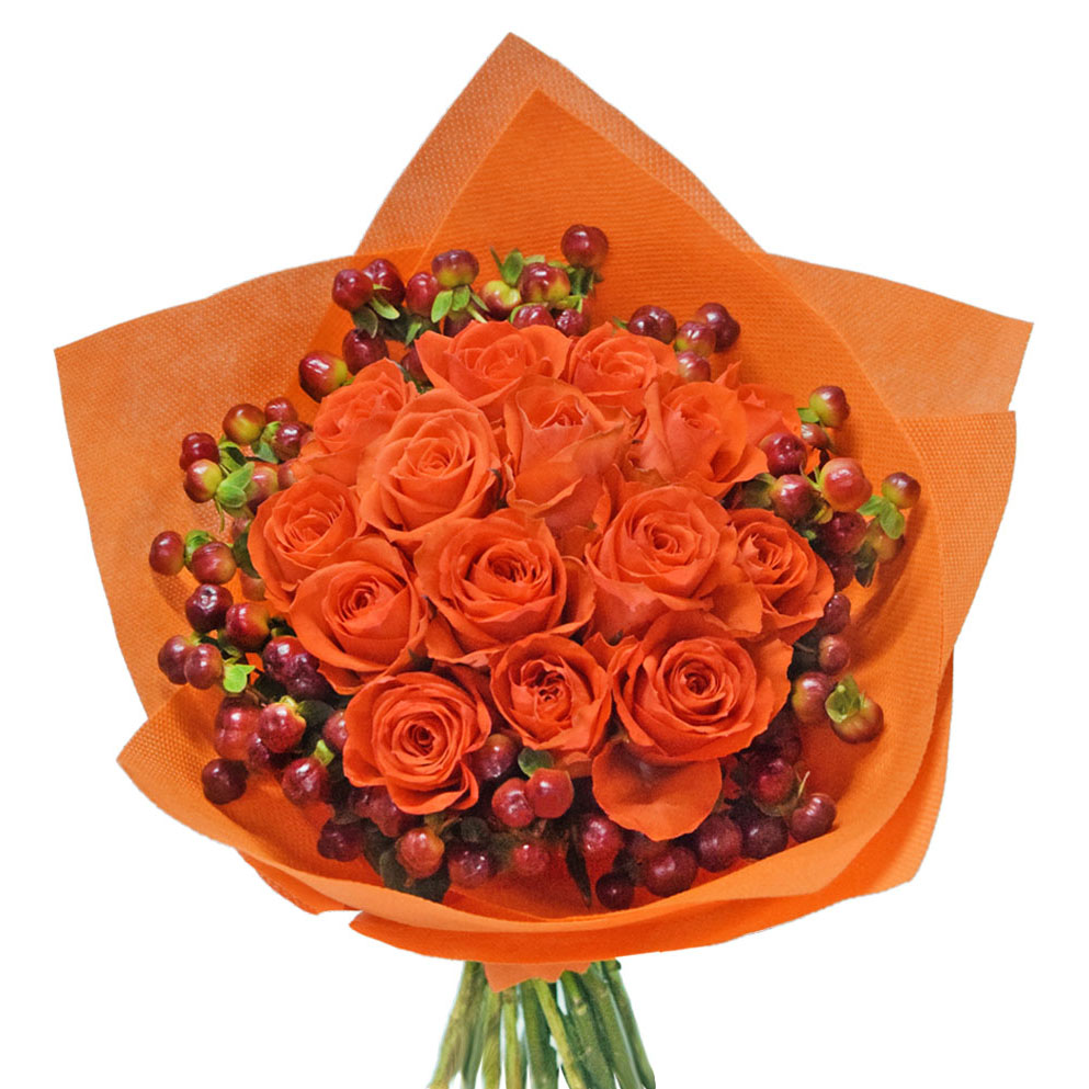 Possy rose bouquet front